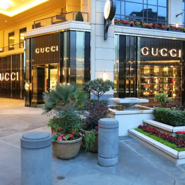 Exterior of Gucci in Bellevue, WA
