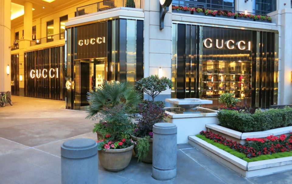 Exterior of Gucci in Bellevue, WA