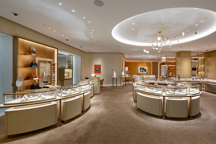Interior/main retail space at Cartier Scottsdale