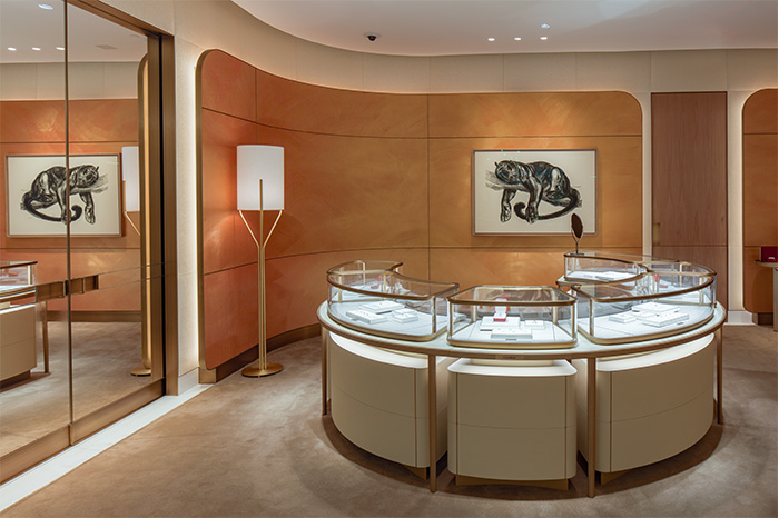 Interior display at Cartier Scottsdale