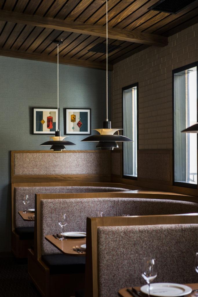 Booth seating at Arthur J Restaurant