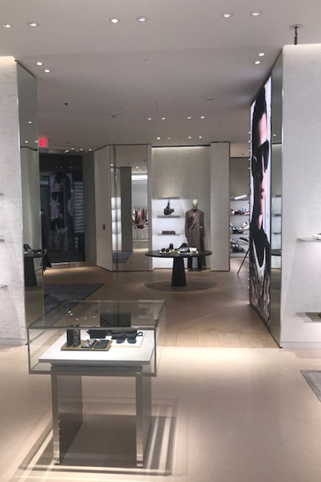 Interior of Dior at Ala Moana