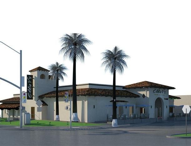 Eddie V's Palm Desert building rendering