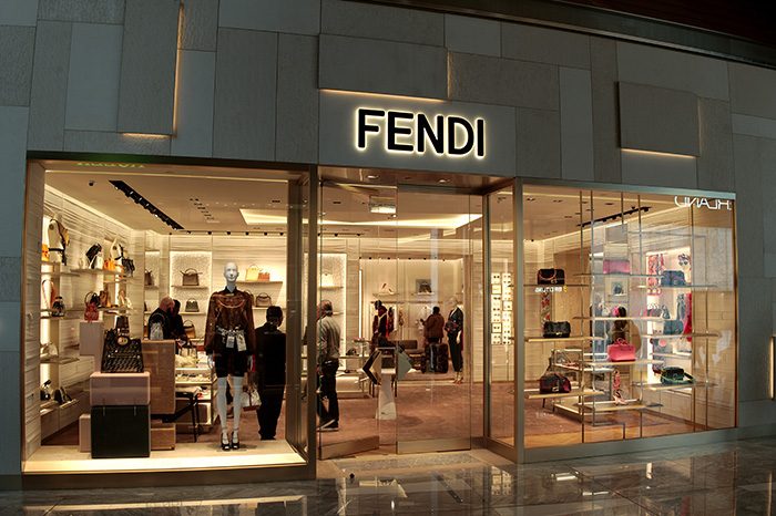 Fendi exterior at Hudson Yards in New York City
