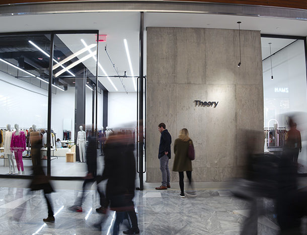Theory retail storefront at Hudson Yards