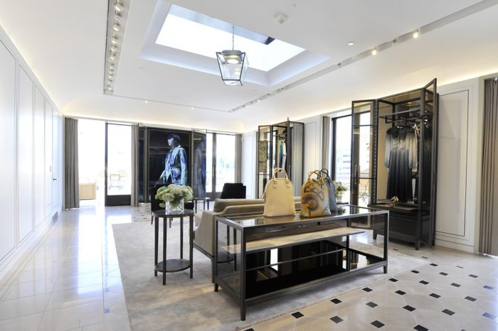 Interior of Burberry Beverly Hills Flagship