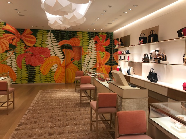 Interior of Louis Vuitton Gump building on Oahu