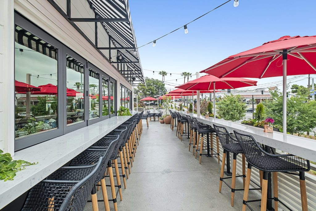 Patio at North Italia Restaurant in San Diego