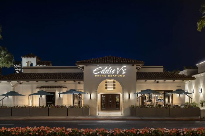 Exterior of Eddie V's Prime Seafood in Palm Desert, CA