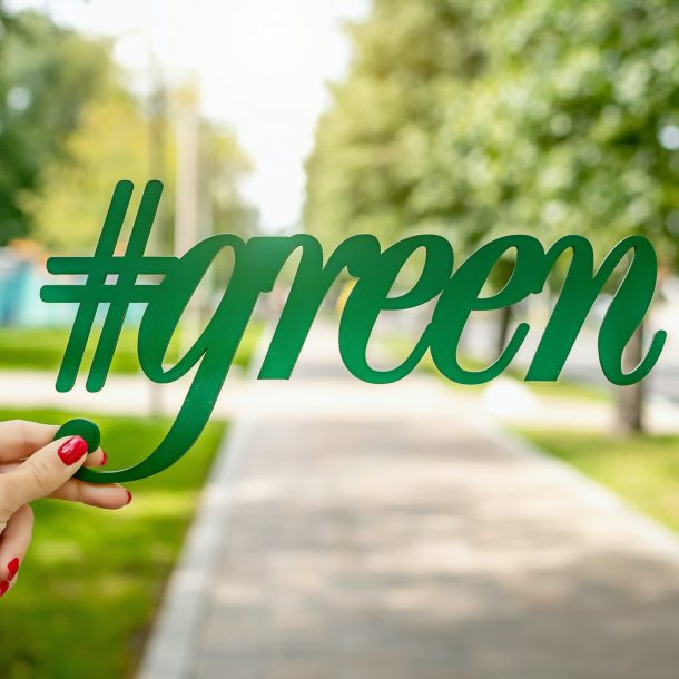 #green cut out in front of a park