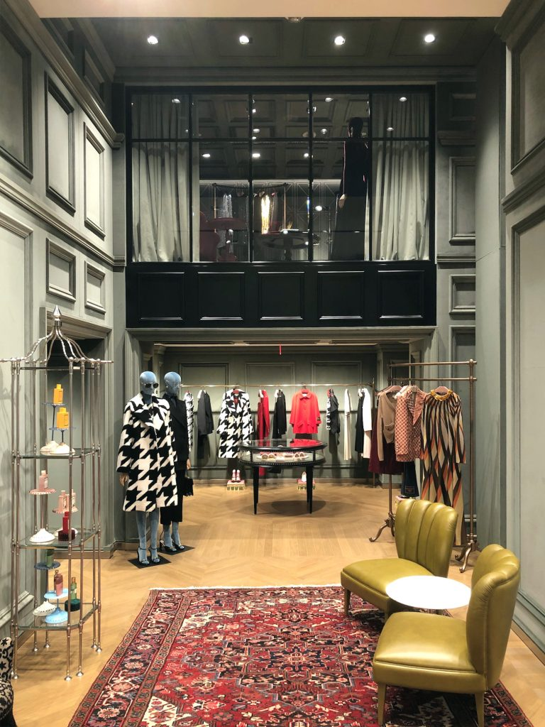 Interior of Gucci San Francisco store