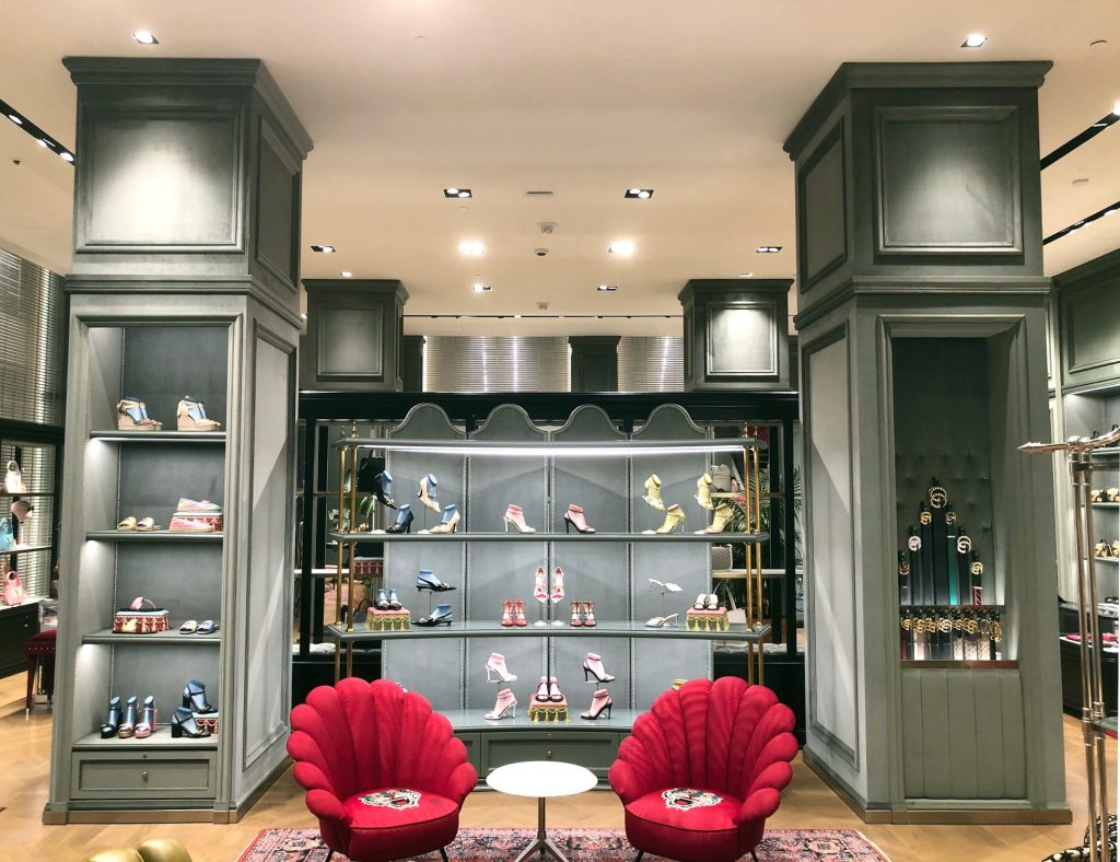 Interior view of Gucci San Francisco Store